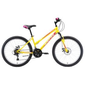 Велосипед 24' Black One Ice Girl D, 2020, цвет жёлтый/розовый/белый, размер 12' Ош