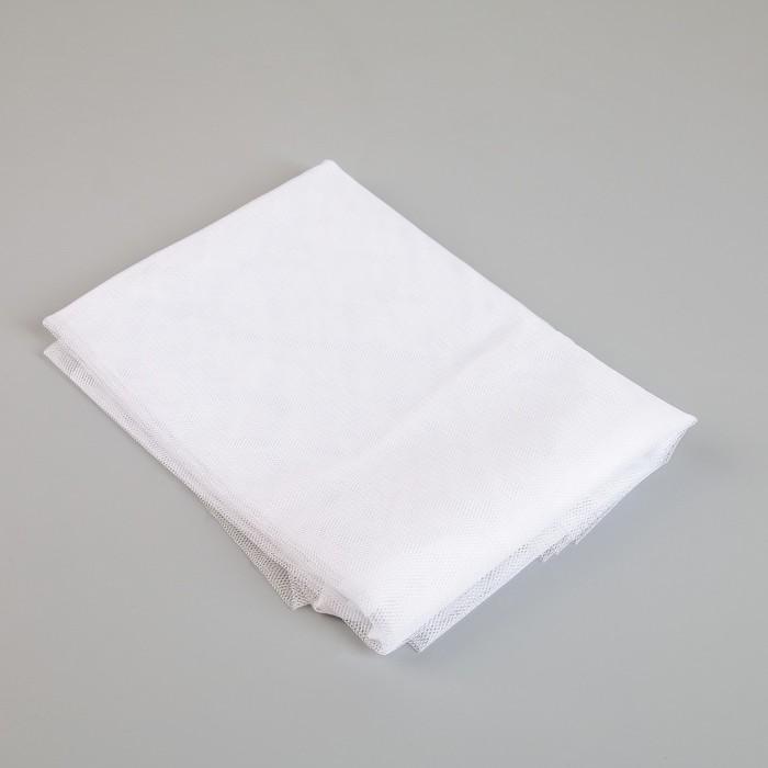 Сетка антимоскитная на окна, 150200 см, крепление на липучку, цвет белый