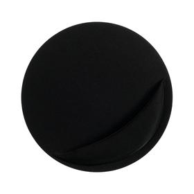 Коврик для мыши LuazON, подушка под руку, круглый, черный Ош