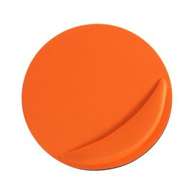 Коврик для мыши LuazON, подушка под руку, круглый, оранжевый