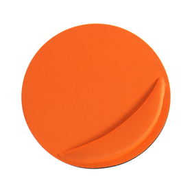 Коврик для мыши LuazON, подушка под руку, круглый, оранжевый Ош