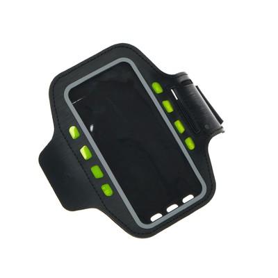 """Светодиодный чехол для телефона на руку SY-AA14, до 5.5"""", от 1 х CR2032, черный - Фото 1"""