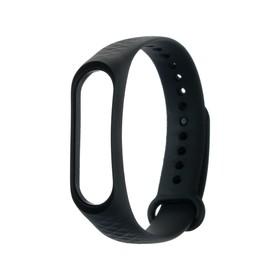 Ремешок для фитнес-браслета Mi Band 3/4 LuazON, ребристый, черный Ош