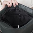 Сумка женская, отдел на молнии, 3 наружных кармана, длинный ремень, цвет зелёный - Фото 6