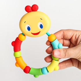 Развивающая игрушка – прорезыватель «Гусеничка», оранжевая