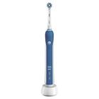 Электрическая зубная щётка Oral-B Pro 2 2000N D501.513.2 Cross Action, 2 режима, бело-синяя