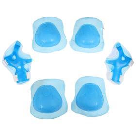Защита роликовая, размер универсальный, цвет голубой Ош
