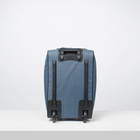 """Чемодан малый 20"""", отдел на молнии, с расширением, наружный карман, 2 колеса, цвет голубой - Фото 3"""
