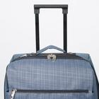 """Чемодан малый 20"""", отдел на молнии, с расширением, наружный карман, 2 колеса, цвет голубой - Фото 6"""