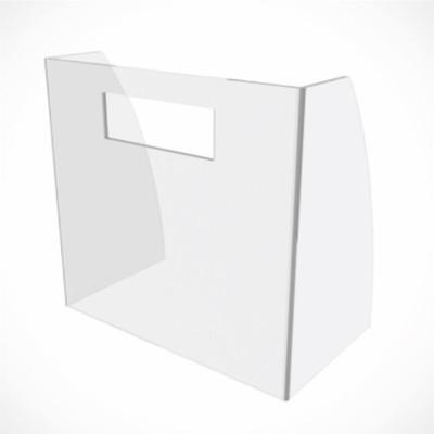 Защитный экран прикассовой зоны 515*315*75, оргстекло 6 мм, прозрачный