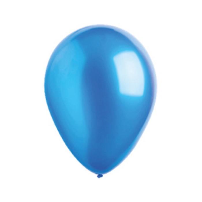 Шар латексный 5, водяные бомбочки, металлик, набор 100 шт., цвет синий