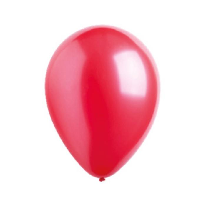 Шар латексный 5, водяные бомбочки, металлик, набор 100 шт., цвет красный