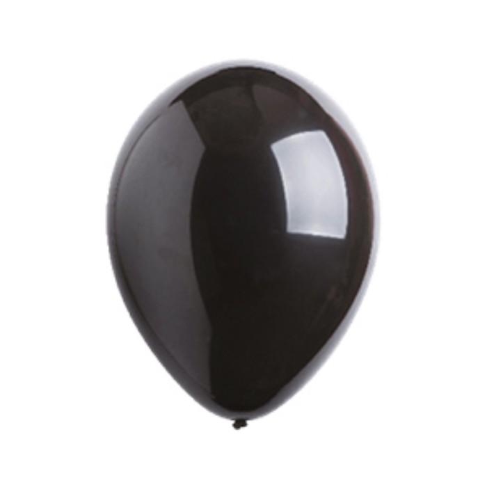 Шар латексный 5, фэшн, водяные бомбочки, набор 100 шт., цвет чёрный