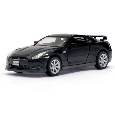 Машина металлическая Nissan GT-R R35, 1:36, открываются двери, инерция, цвет чёрный - Фото 1