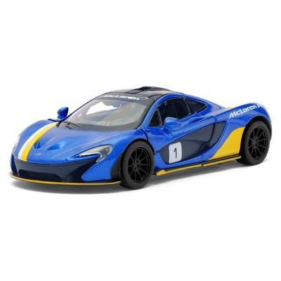 Машина металлическая McLaren P1, 1:36, открываются двери, инерция, цвет синий - Фото 1