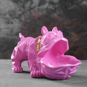 Подставка под мелочи 'Английский бульдог' розовый 30х14х16,5см Ош