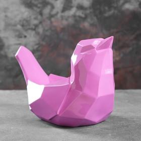 Подставка под мелочи 'Птичка' розовая 33х16,5х21см Ош