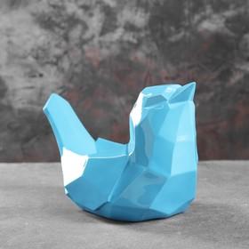 Подставка под мелочи 'Птичка' голубая 33х16,5х21см Ош