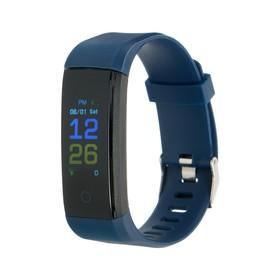 Фитнес-браслет LuazON LF-07, 0.96', цветной дисплей, пульсометр, оповещения, шагомер, синий Ош