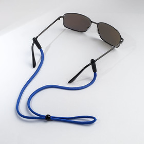 Шнурок для очков 'Верёвка' цельная, цвет голубой F79149 Ош