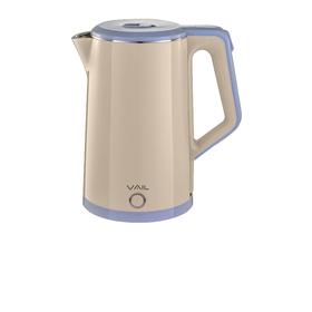 Чайник электрический VAIL VL-5553, 1500 Вт, 1.8 л, пластик/металл, бежевый