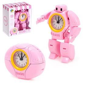 Робот «Будильник», трансформируется, звуковые эффекты, цвет розовый