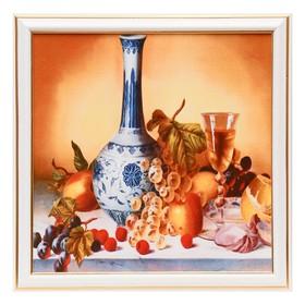 Картина 'Натюрморт с вином' 28х28 см Ош