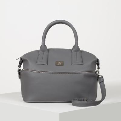 Сумка женская, отдел на молнии, наружный карман, регулируемый ремень, цвет серый - Фото 1