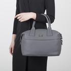 Сумка женская, отдел на молнии, наружный карман, регулируемый ремень, цвет серый - Фото 2