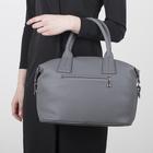 Сумка женская, отдел на молнии, наружный карман, регулируемый ремень, цвет серый - Фото 3