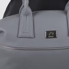 Сумка женская, отдел на молнии, наружный карман, регулируемый ремень, цвет серый - Фото 4