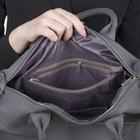 Сумка женская, отдел на молнии, наружный карман, регулируемый ремень, цвет серый - Фото 5