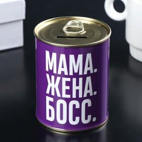 Копилка-банка металл 'Заначка для мамы' 7,5х9,5 см Ош