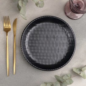 Блюдо «Чёрный Восток», 20,3×20,3×2,7см, цвет чёрный