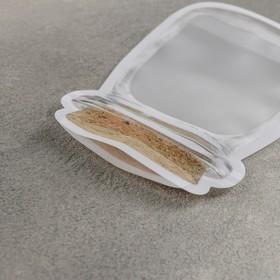 Набор пакетов для хранения сыпучих продуктов, 2 шт: 15,5×10 см, 19,6×12,6 см, застёжка zip-lock