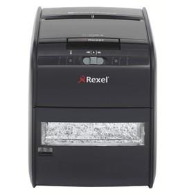 Шредер Rexel AUTO+60X (P-3), фрагменты 4x45мм, 60 листов одн, скрепки, скобы, пл.карты, 15л