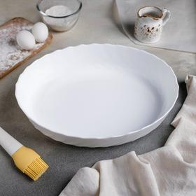 Форма для запекания Trianon Oval, 3 л, 32×24 см, цвет белый