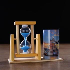 Часы песочные 'Тауэрский мост' с карандашницей, 12.5х4.5х9.3 см Ош