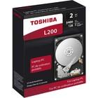 """Жесткий диск Toshiba L200, 2Тб, SATA-III, 3.5"""""""