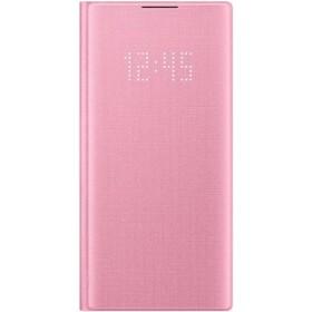 Чехол флип-кейс для Samsung Galaxy Note 10 LED View Cover, розовый (EF-NN970PPEGRU)