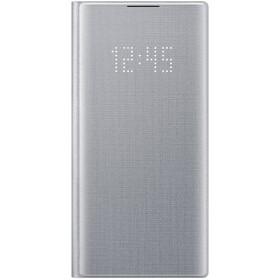 Чехол флип-кейс для Samsung Galaxy Note 10 LED View Cover, серебристый (EF-NN970PSEGRU)