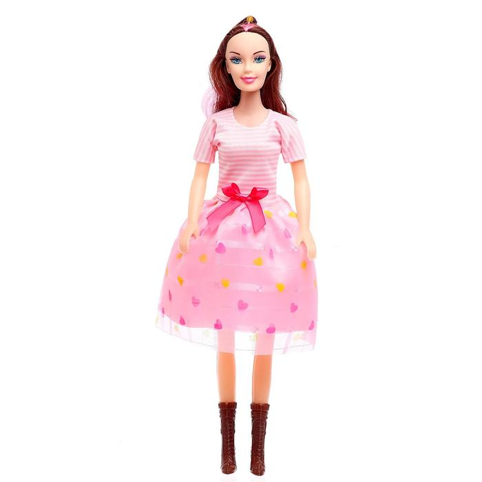 Кукла Даша в платье, высота 41 см, МИКС