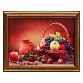Картина 'Натюрморт с фруктами' 15х20 см (18х23см) Ош