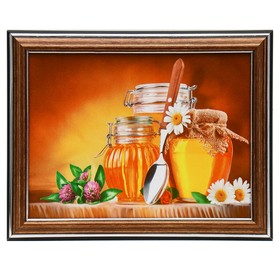 Картина 'Цветочный мёд' 15х20 см (18х23см) Ош