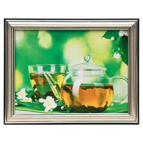 Картина 'Цветочный чай' 15х20 см (18х23см) Ош
