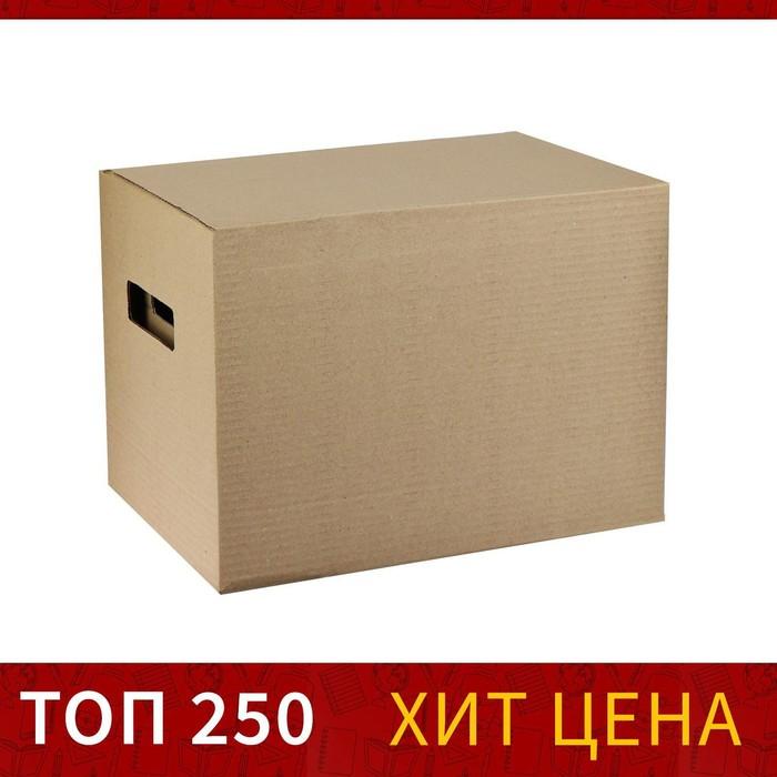 Коробка с крышкой 25x34x26 см Calligrata коричневый
