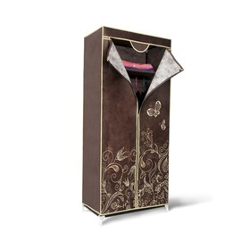Вешалка-гардероб с чехлом, 700x440x1550,темно-коричневый Ош