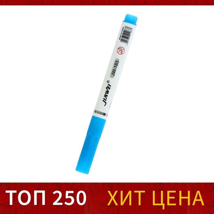 Маркер текстовыделитель наконечник скошенный 4мм синий