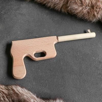 """Сувенирное деревянное оружие """"Маузер"""", 30 см, массив бука"""
