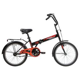 Велосипед 20' Novatrack TG30, цвет чёрный Ош